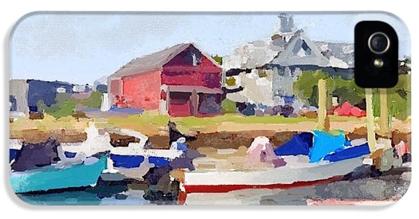 North Shore Art Association At Pirates Lane On Reed's Wharf From Beacon Marine Basin IPhone 5s Case by Melissa Abbott