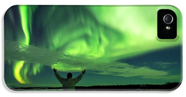 Northern Light In Western Iceland IPhone 5s Case by Dubi Roman