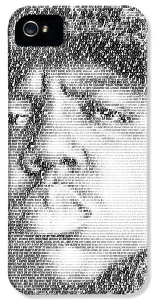 Biggie iPhone 5s Case - Notorious B.i.g. Juicy Lyrics Mosaic by Paul Van Scott