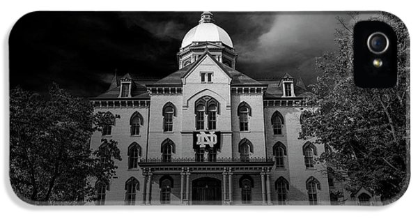 Notre Dame University Black White 3a IPhone 5s Case by David Haskett