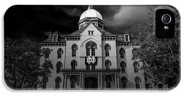 Notre Dame University Black White 3a IPhone 5s Case by David Haskett