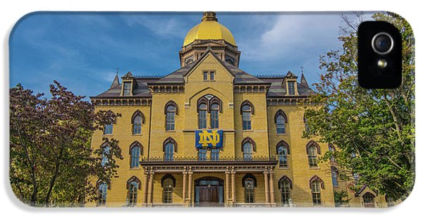 Notre Dame University Golden Dome IPhone 5s Case by David Haskett