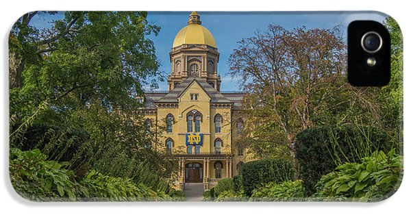 Notre Dame University Q IPhone 5s Case by David Haskett