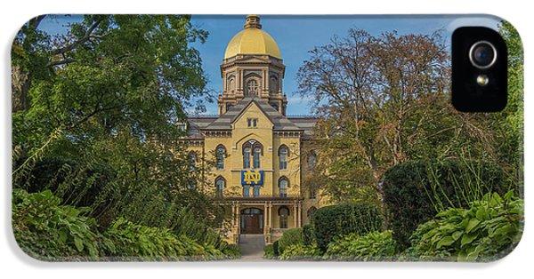 Notre Dame University Q IPhone 5s Case by David Haskett