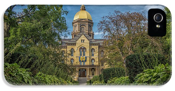 Notre Dame University Q1 IPhone 5s Case by David Haskett