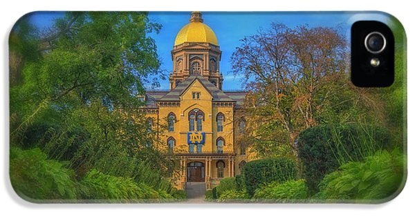 Notre Dame University Q2 IPhone 5s Case by David Haskett