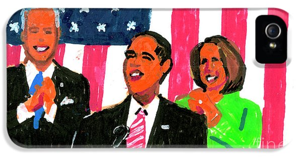 Obama's State Of The Union '10 IPhone 5s Case by Candace Lovely