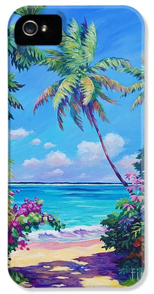 Landscapes iPhone 5s Case - Ocean View With Breadfruit Tree by John Clark