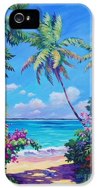 Ocean View With Breadfruit Tree IPhone 5s Case by John Clark