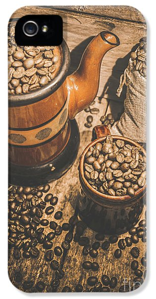 Kettles iPhone 5s Case - Old Coffee Brew House Beans by Jorgo Photography - Wall Art Gallery