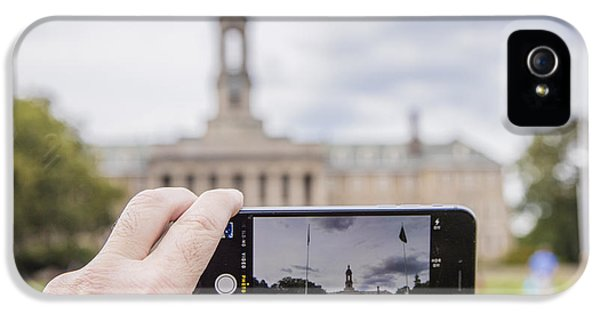 Penn State University iPhone 5s Case - Old Main Through Iphone  by John McGraw