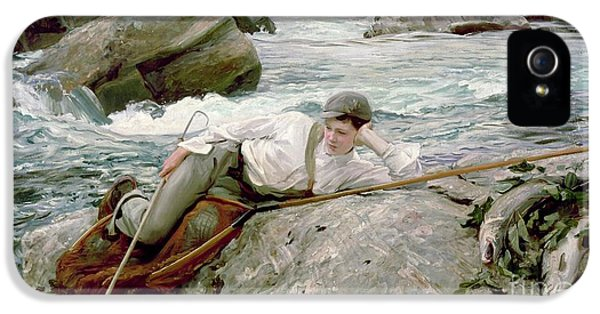 On His Holidays IPhone 5s Case by John Singer Sargent