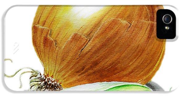 Onion And Peas IPhone 5s Case by Irina Sztukowski