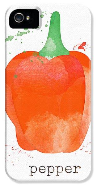 Rural Scenes iPhone 5s Case - Orange Bell Pepper  by Linda Woods