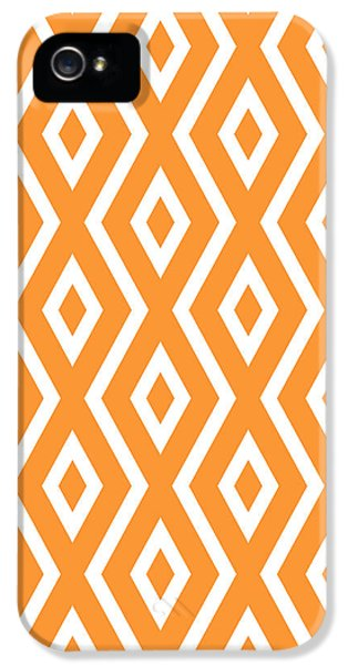 Orange Pattern IPhone 5s Case by Christina Rollo