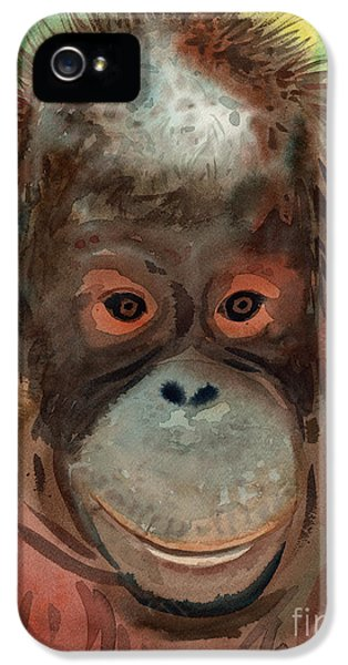 Orangutan IPhone 5s Case by Donald Maier