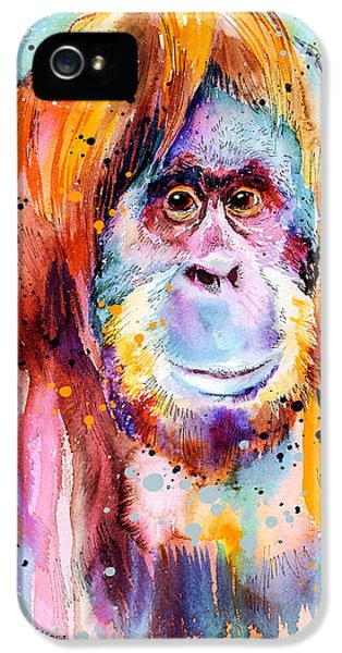Orangutan  IPhone 5s Case by Slavi Aladjova