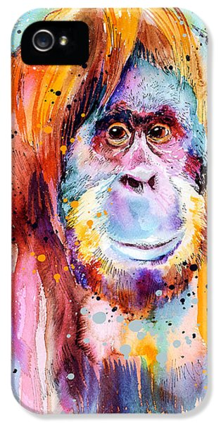 Orangutan  IPhone 5s Case by Slavi Aladjova