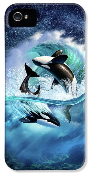 Dolphin iPhone 5s Case - Orca Wave by Jerry LoFaro