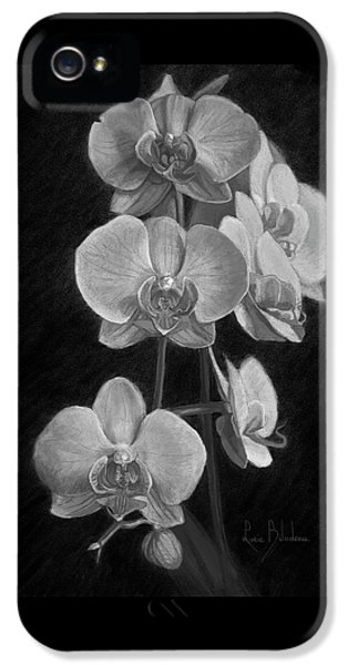 Orchids - Black And White IPhone 5s Case