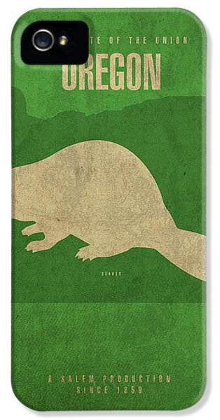 Oregon State Facts Minimalist Movie Poster Art IPhone 5s Case