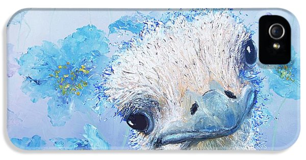 Ostrich In A Field Of Poppies IPhone 5s Case by Jan Matson