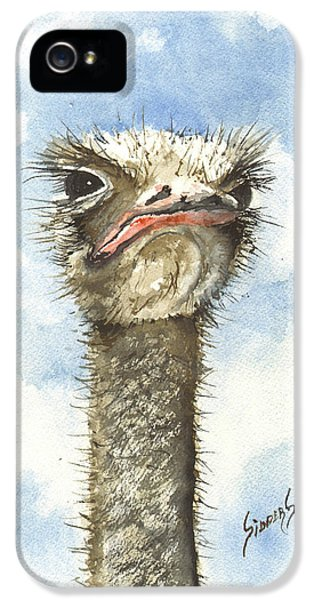 Ostrich iPhone 5s Case - Ozzie by Sam Sidders