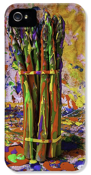 Painted Asparagus IPhone 5s Case by Garry Gay