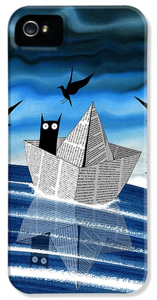 Seagull iPhone 5s Case - Paper Boat  by Andrew Hitchen