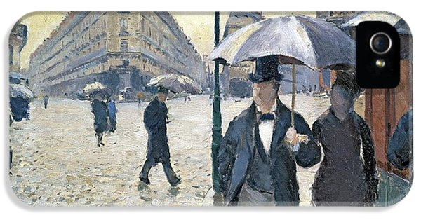 Impressionism iPhone 5s Case - Paris A Rainy Day by Gustave Caillebotte