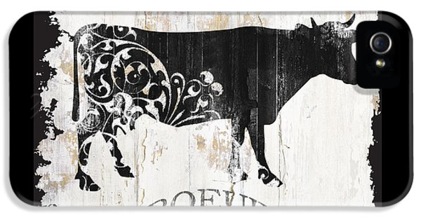 Cow iPhone 5s Case - Paris Farm Sign Cow by Mindy Sommers