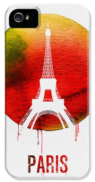 Paris Landmark Red IPhone 5s Case by Naxart Studio
