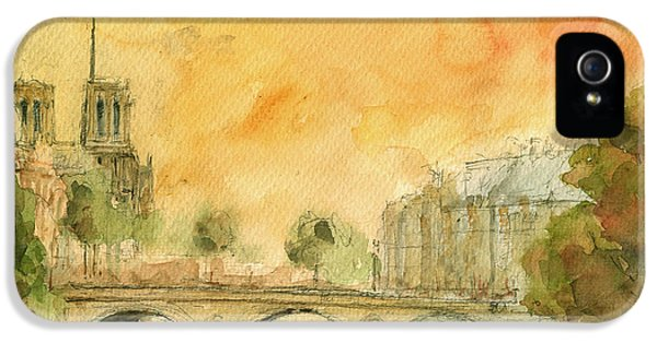 Paris Notre Dame IPhone 5s Case by Juan  Bosco