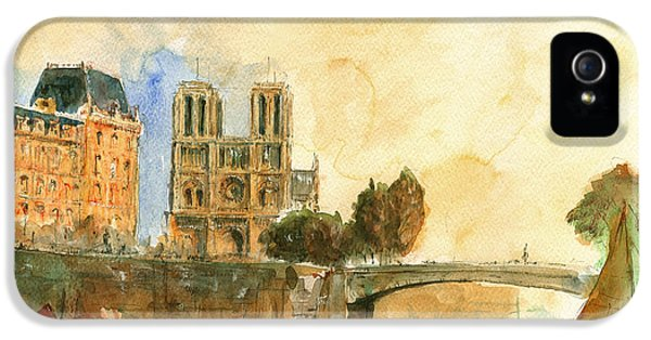 Paris Watercolor IPhone 5s Case by Juan  Bosco