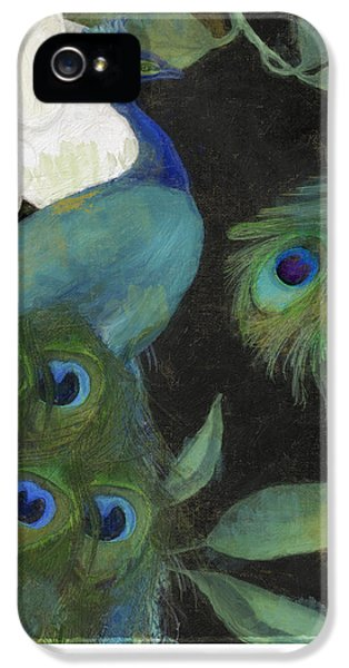 Peacock iPhone 5s Case - Peacock And Magnolia II by Mindy Sommers