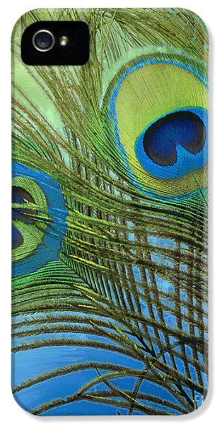 Peacock Candy Blue And Green IPhone 5s Case by Mindy Sommers