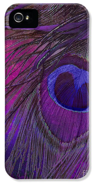 Peacock Candy Purple  IPhone 5s Case by Mindy Sommers
