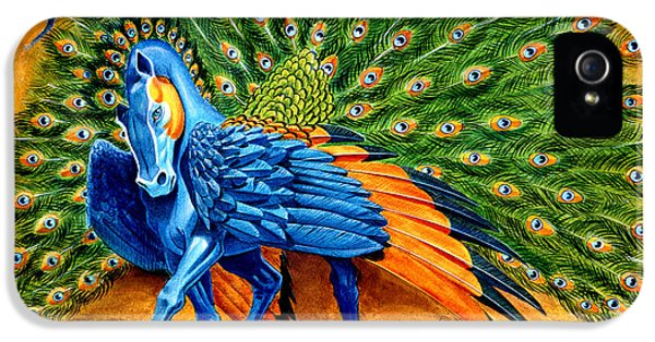 Peacock Pegasus IPhone 5s Case by Melissa A Benson