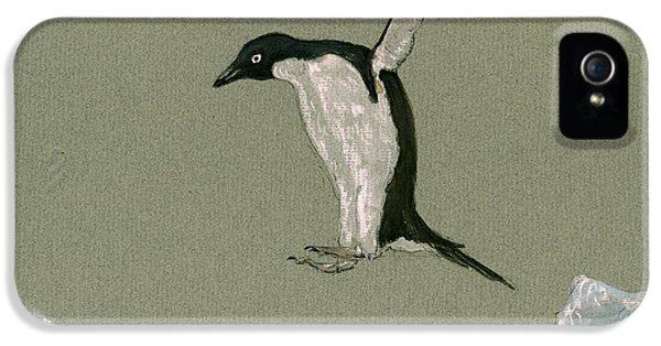 Penguin iPhone 5s Case - Penguin Jumping by Juan  Bosco