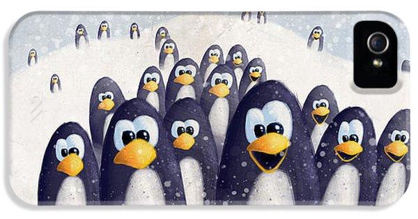Penguin Winter IPhone 5s Case by David Breeding