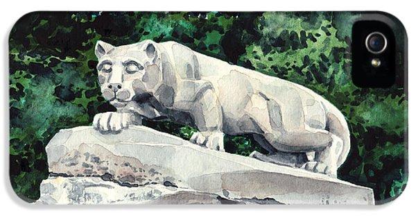 Penn State University iPhone 5s Case - Penn State Nittany Lion Shrine University Happy Valley Joe Paterno by Laura Row