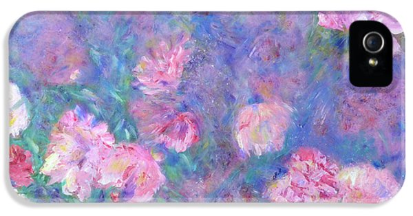 IPhone 5s Case featuring the painting Peonies by Claire Bull