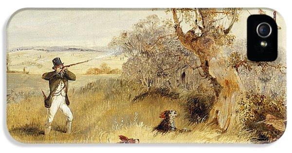 Pheasant iPhone 5s Case - Pheasant Shooting by Henry Thomas Alken