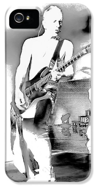 Phil Collen Of Def Leppard IPhone 5s Case by David Patterson