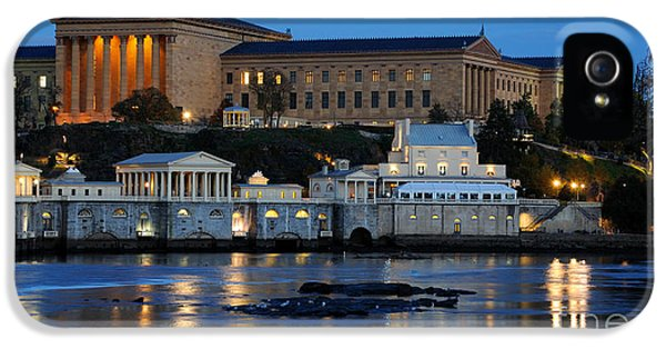 Philadelphia Art Museum And Fairmount Water Works IPhone 5s Case by Gary Whitton