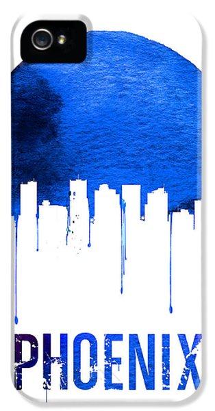 Phoenix Skyline Blue IPhone 5s Case by Naxart Studio