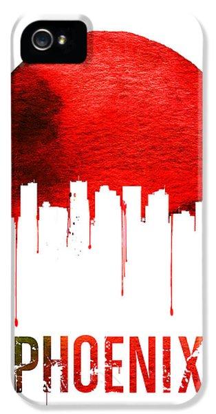 Phoenix Skyline Red IPhone 5s Case by Naxart Studio