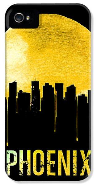 Phoenix Skyline Yellow IPhone 5s Case by Naxart Studio