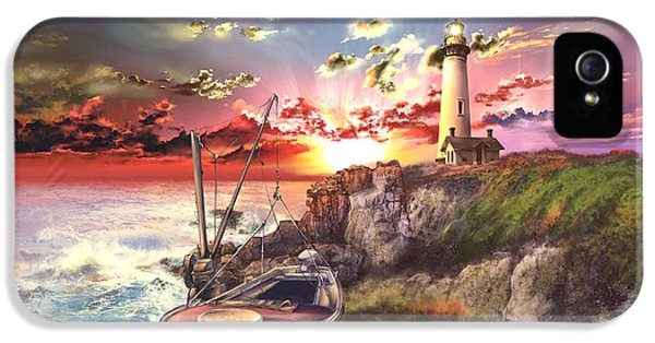 Pigeon iPhone 5s Case - Pigeon Point Lighthouse by Bekim Art