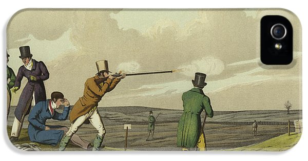 Pigeon Shooting IPhone 5s Case by Henry Thomas Alken